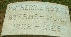 Katherine Rosine <i>Sterne</i> Word