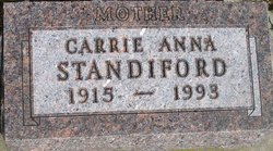 Carrie Anna <i>Hand</i> Standiford