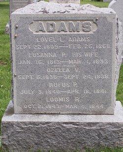 Lusanna P <i>Curtis</i> Adams