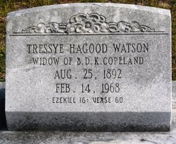 Tressye Belle <i>Hagood</i> Copeland Watson