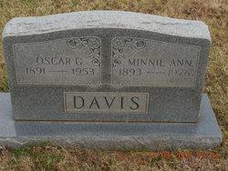 Minnie Ann <i>Nichol</i> Davis