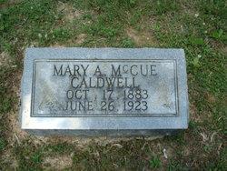 Mary A. <i>McCue</i> Caldwell