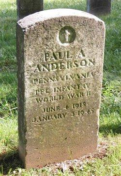 PFC Paul Adam Anderson