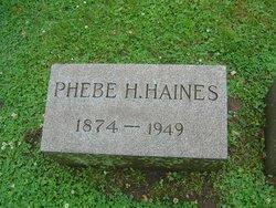 Phebe <i>Hutchinson</i> Haines
