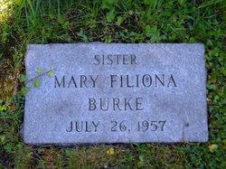 Sr Mary Filiona Burke