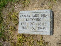 Martha Jane <i>Bunn</i> Browning