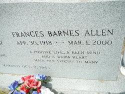Sarah Frances <i>Barnes</i> Allen