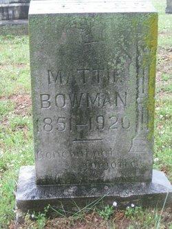 Martha Mattie <i>George</i> Bowman