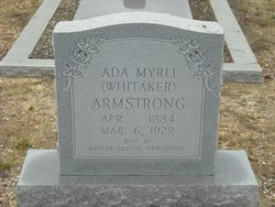 Ada Myrli <i>Whitaker</i> Armstrong