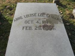 Anne Louise <i>Lee</i> Sanders