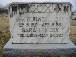 Rev Burwell Cox