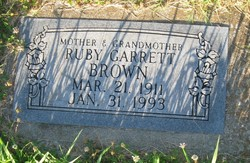 Ruby <i>Garrett</i> Brown