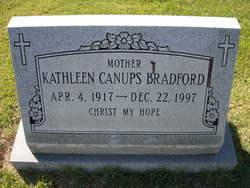 Kathleen Canups <i>Letson</i> Bradford