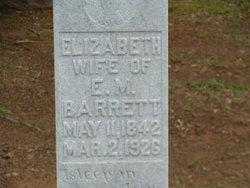 Elizabeth Jane <i>Garrison</i> Barrett