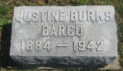 Justine <i>Burks</i> Barco