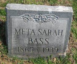 Meta Sarah <i>Harmon</i> Bass