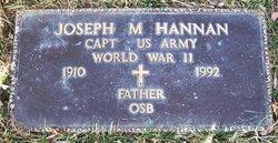 Fr Joseph M Hannan, OSB