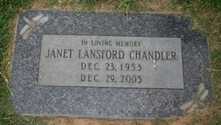 Janet <i>Lansford</i> Chandler