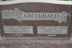 Annice Vilate <i>Hawes</i> Archibald