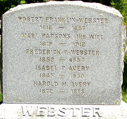 Mary <i>Parsons</i> Webster