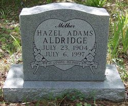 Hazel <i>Adams</i> Aldridge