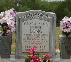 Clara Alma <i>Mather</i> Long
