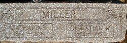 Rev Christian W. Miller
