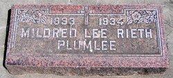 Mildred Lee <i>Rieth</i> Plumlee