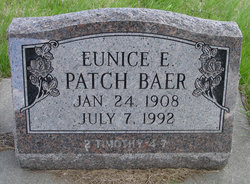 Eunice E. <i>Patch</i> Baer