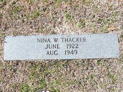 Nina Ann <i>West</i> Thacker