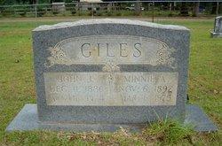 Minnie A. <i>Hutsell</i> Giles
