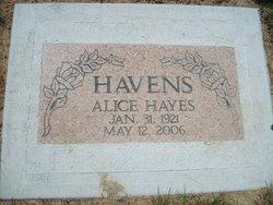 Alice <i>Hayes</i> Havens