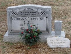 Cathryn Sue <i>Lawrence</i> Cole