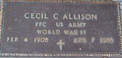 PFC Cecil C Allison