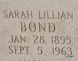Sarah Lillian <i>Wolf</i> Bond