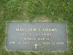 Malcolm Sherman Adams