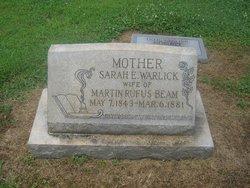 Sarah E <i>Warlick</i> Beam