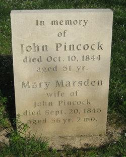 Mary <i>Marsden</i> Pincock