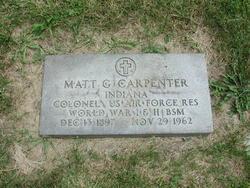 Col Matthew G Carpenter