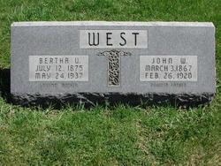 Bertha U West