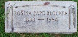 Rosina <i>Pape</i> Blocker