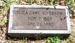 Eliza Jane <i>Mize</i> Alverson