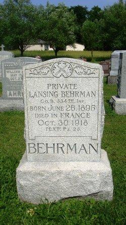 Pvt Lansing Behrman