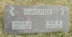Marion E Carpenter