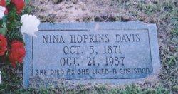 Perninah Mae Nina <i>Hopkins</i> Davis