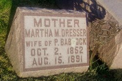 Martha M. <i>Dresser</i> Babcock
