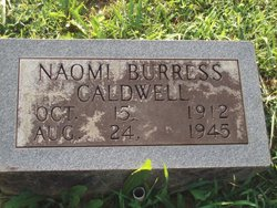 Naomi <i>Burress</i> Caldwell