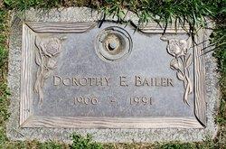 Dorothy E Bailer
