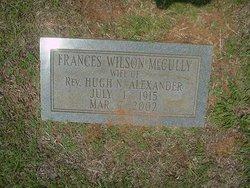 Frances Wilson <i>McCully</i> Alexander