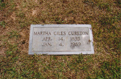 Martha <i>Giles</i> Cureton